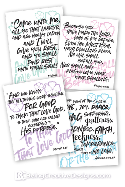 Tropical Styled Bible Verse Wall Art {20+ Pages}