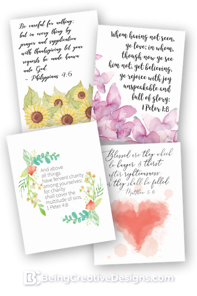Watercolor Bible Verse Wall Art