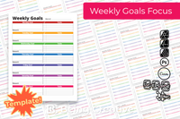 Weekly Goals Focus Template