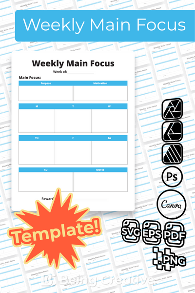 Weekly Main Focus Template