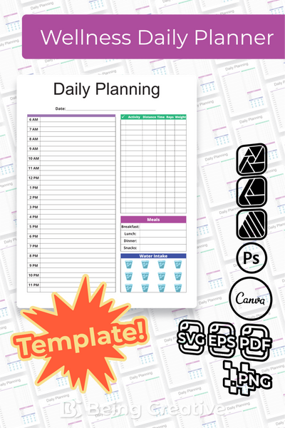 Wellness Daily Planner Template