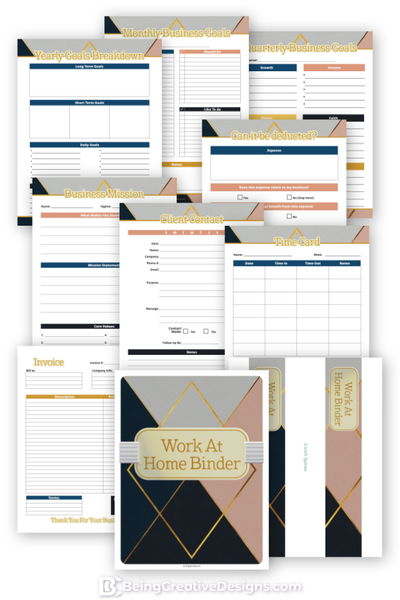 Work at Home Binder
