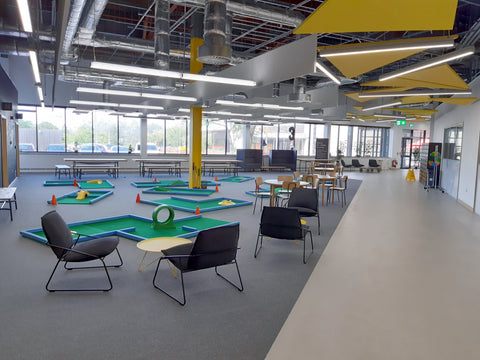 Crazy golf hire for corporate events