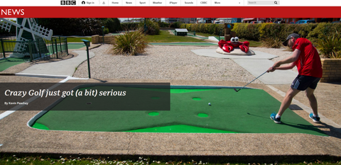 BBC feature about mini golf Putterfingers
