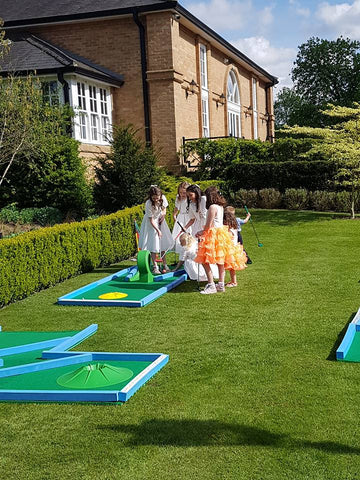 Crazy golf hire weddings events