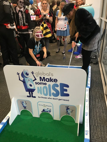 Crazy golf for Global Make Some Noise charity
