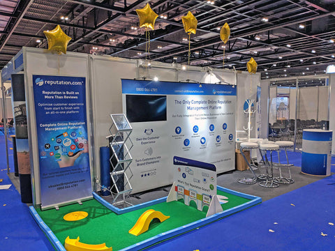 Mini golf hire for trade shows and exhibitions