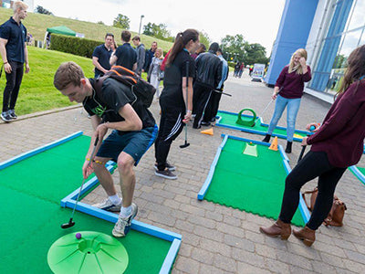 modular crazy golf hire