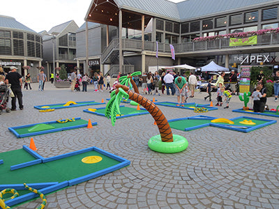 Portable crazy golf course hire