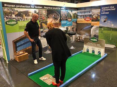 Golf activites for trade shows and exhibitions