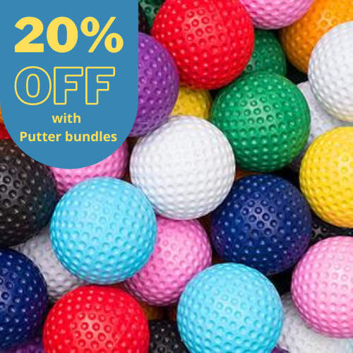 20% OFF Low Bounce Mini Golf Balls (Pack of 50)