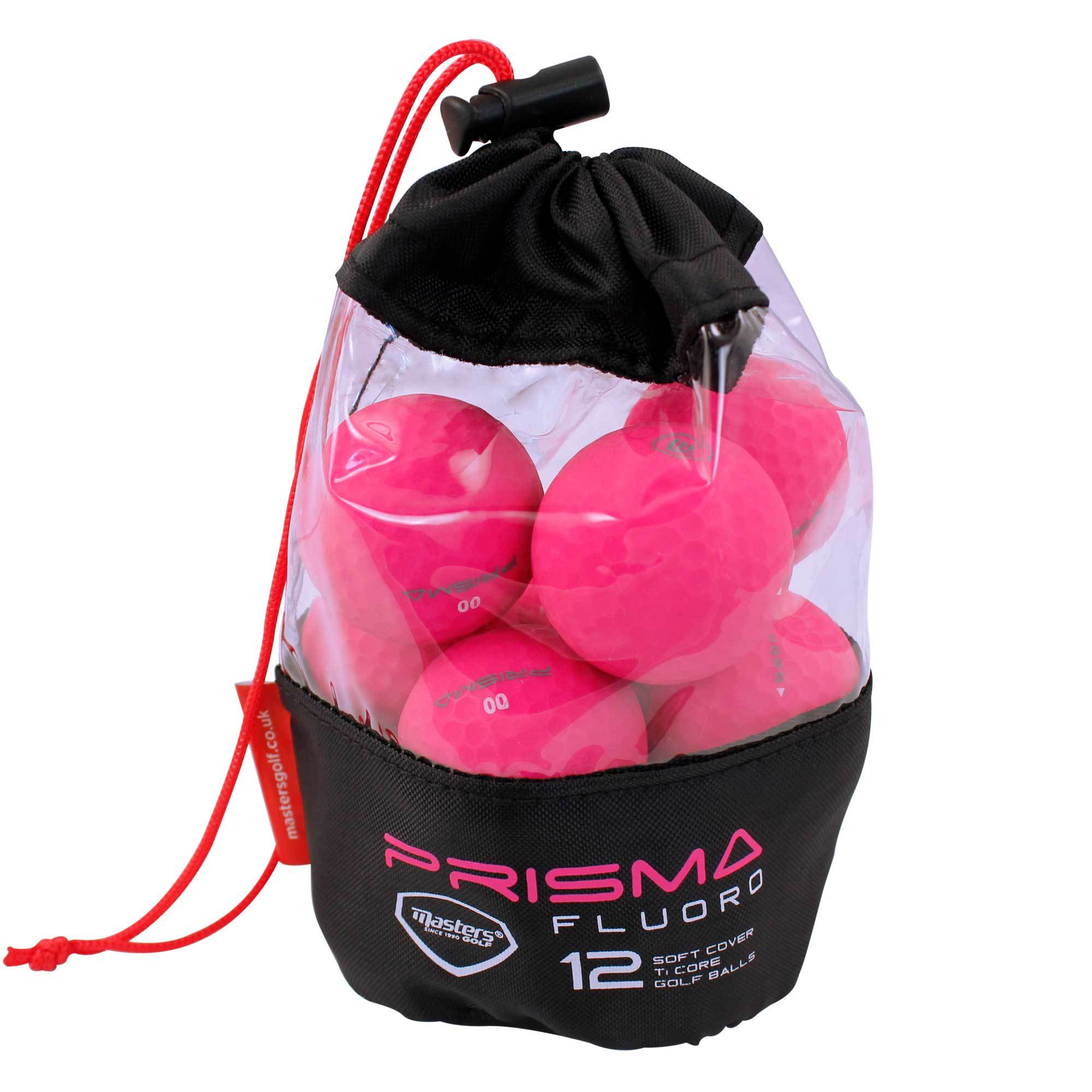 Prisma Fluoro Matt TI Golf Balls Bag 12 - Event Stuff Ltd Owns Putterfingers.com!
