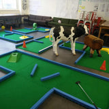 Party minigolf course small compact size portable crazy golf