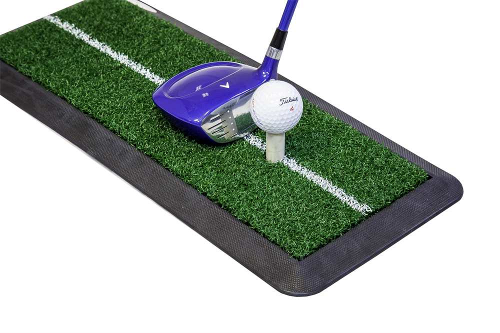 Launch driving mat golf practice