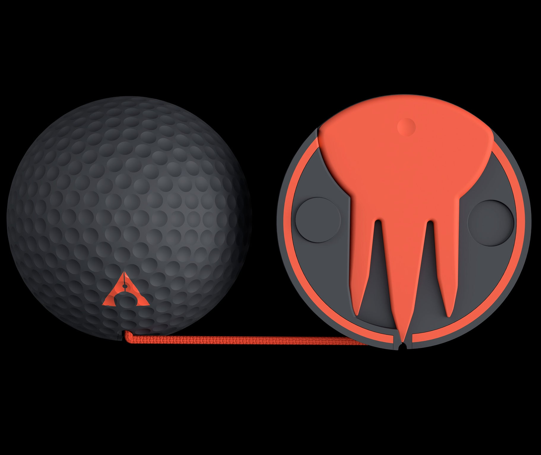 golf alignment ball magnetic string