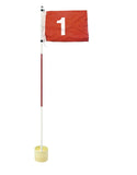 Golf flag stick with putting cup