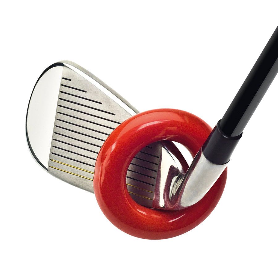 Swing ring golf warmup aid