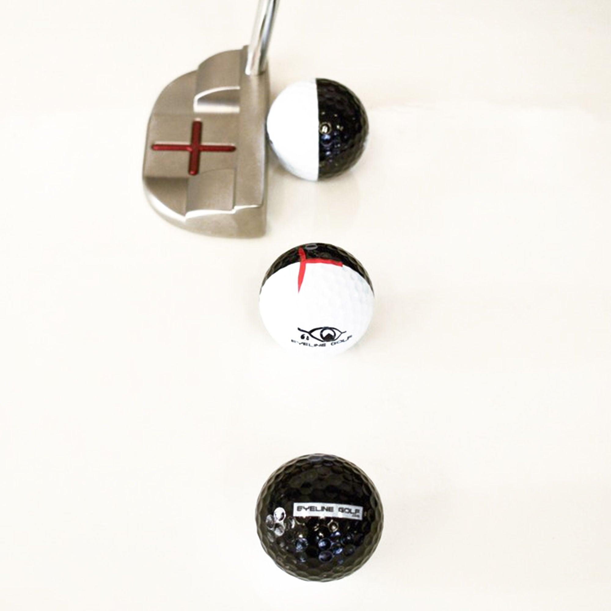EyeLine 3-Pack MyRoll Training Balls 2 Colour 50/50 - Putterfingers.com