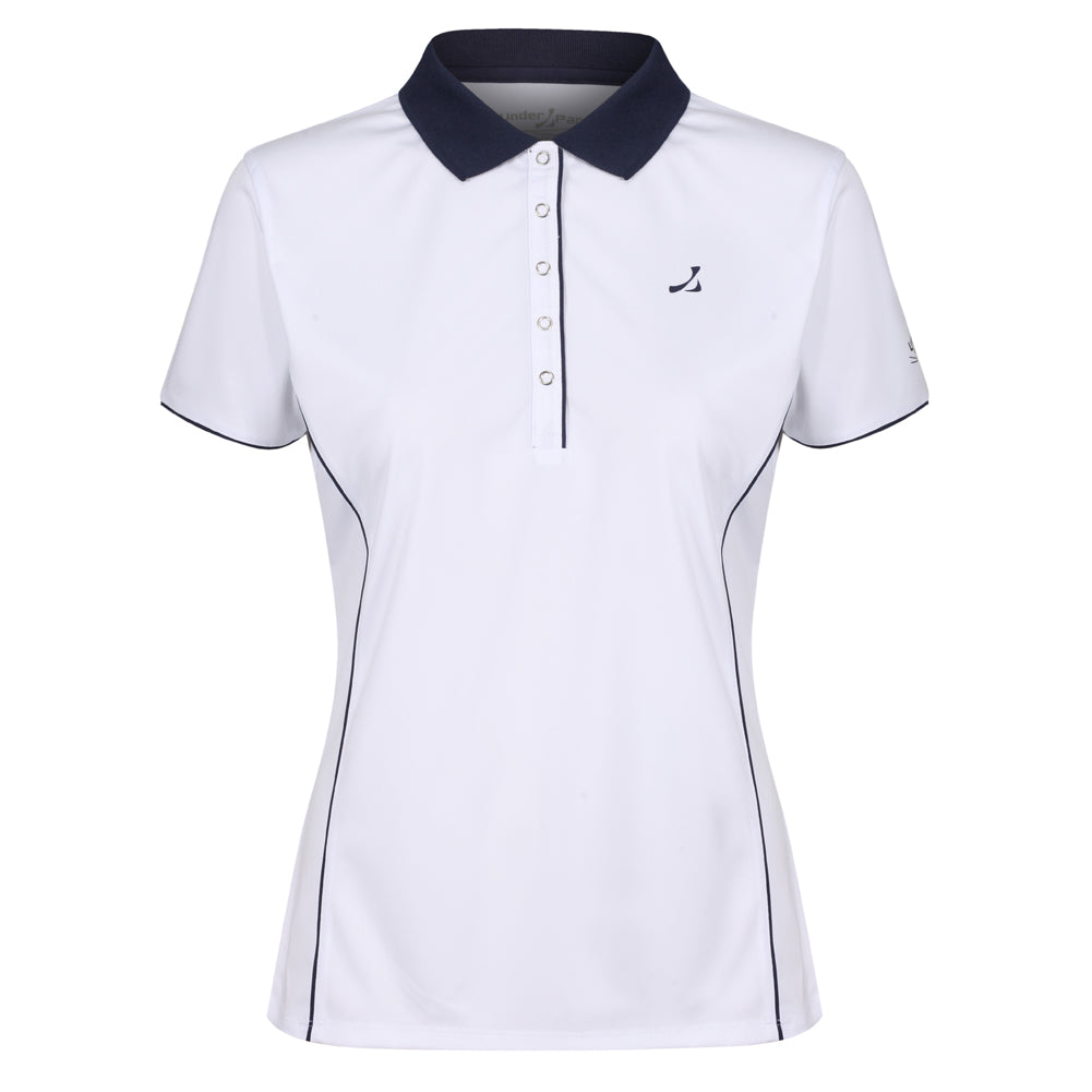 Ladies 5 Popper Placket Polo Shirt - Putterfingers.com
