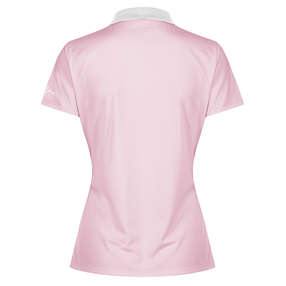 Ladies 5 Popper Placket Polo Shirt