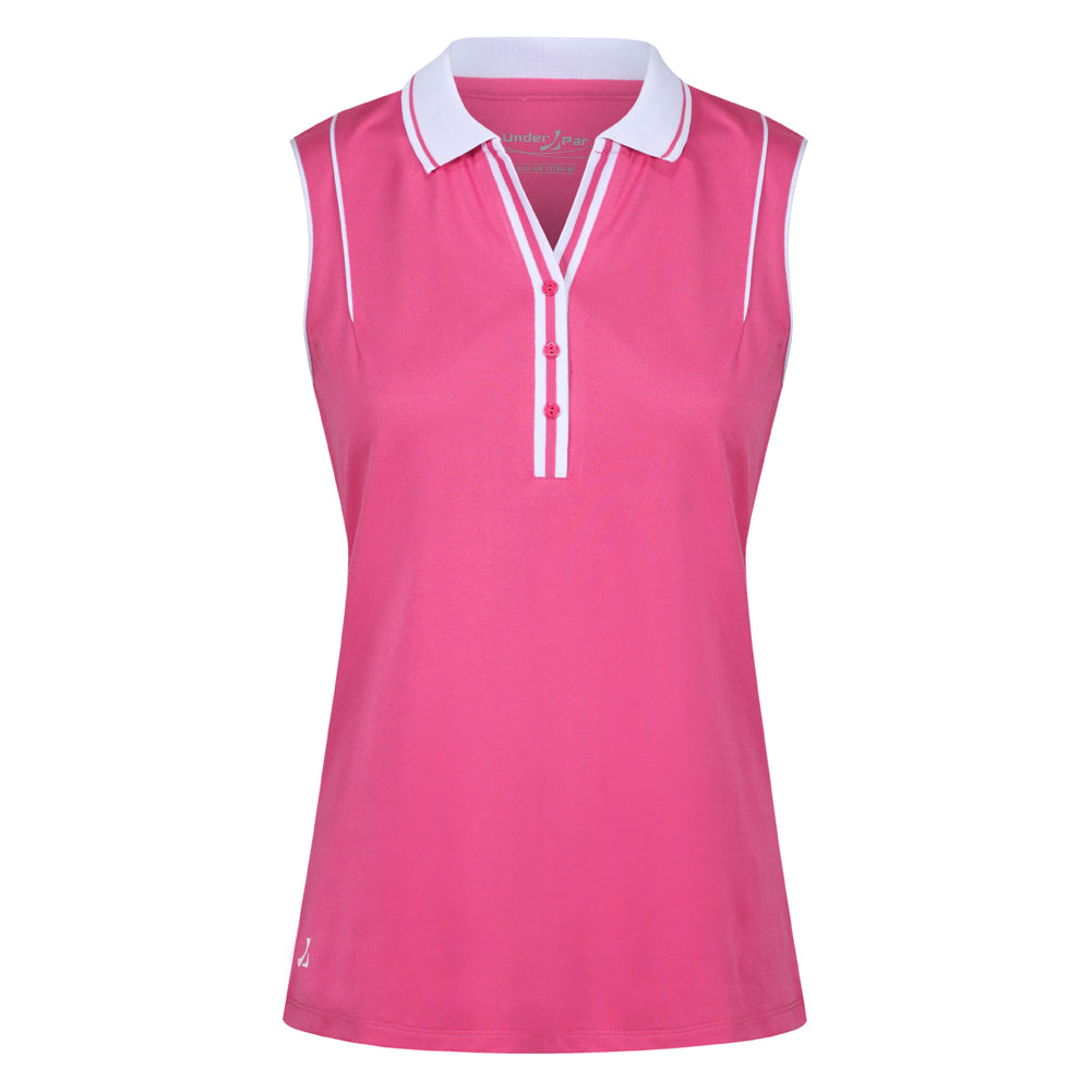 Ladies Deep Ribbed Polo Shirt - Putterfingers.com