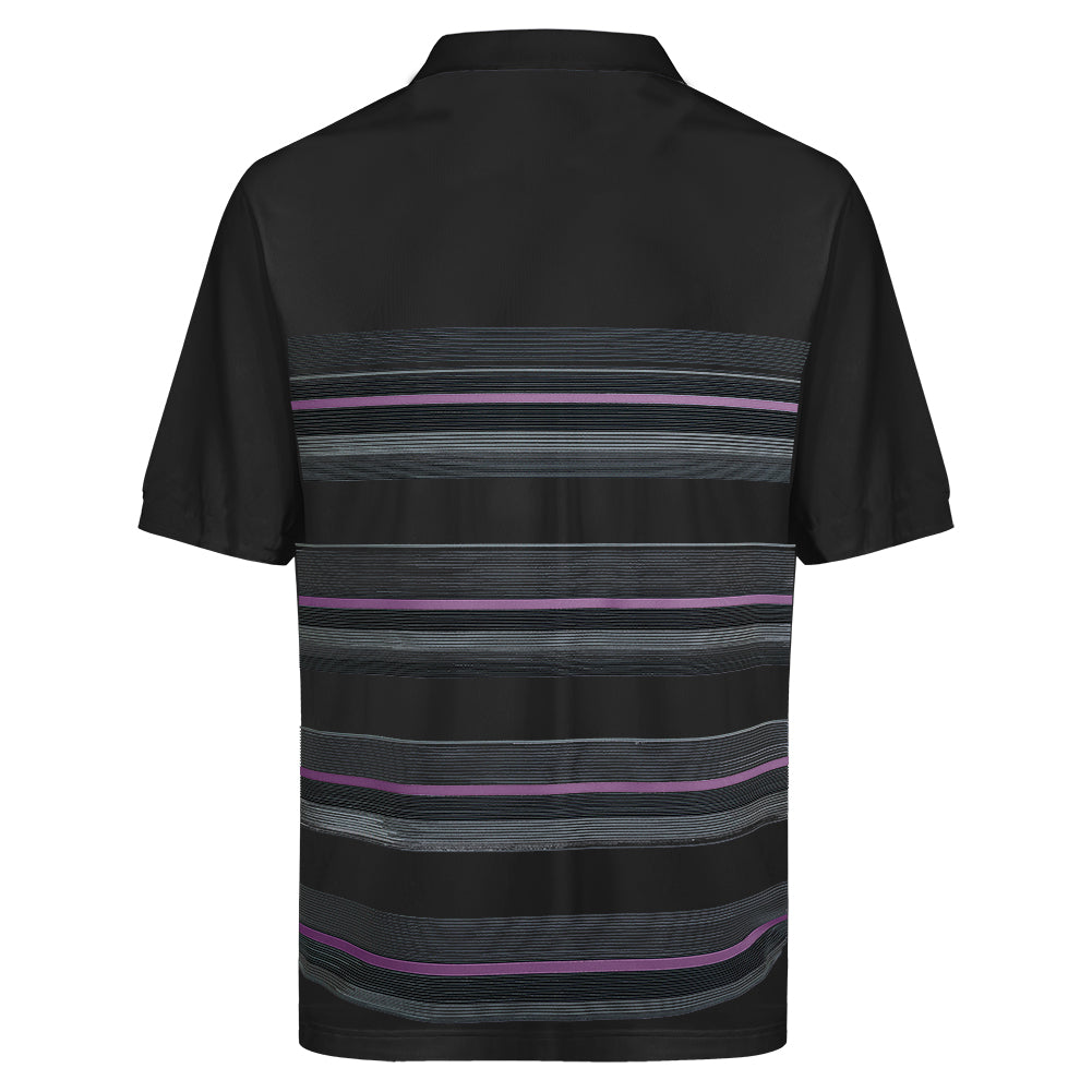 Mens Multi Stripe Polo Shirt - Putterfingers.com