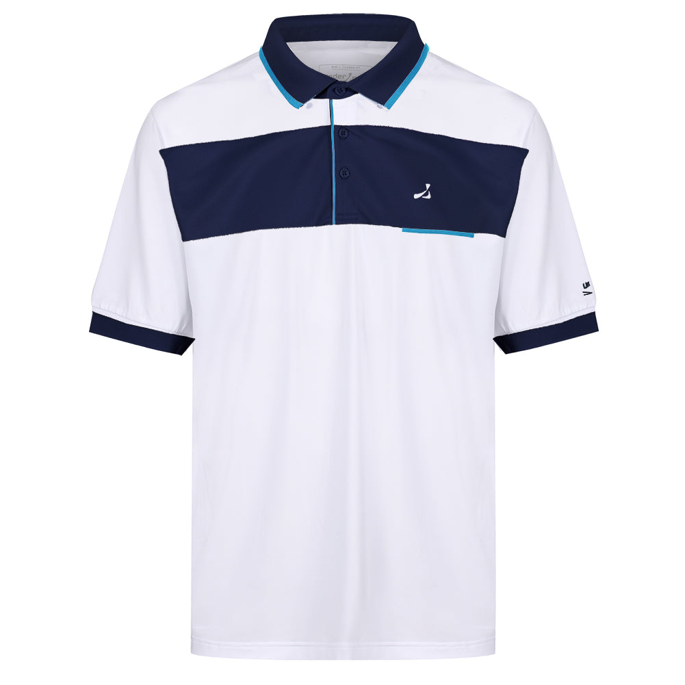 Mens Contrast Panel Polo Shirt