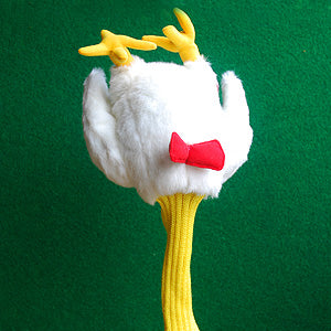 Chicken shaped golf club head cover