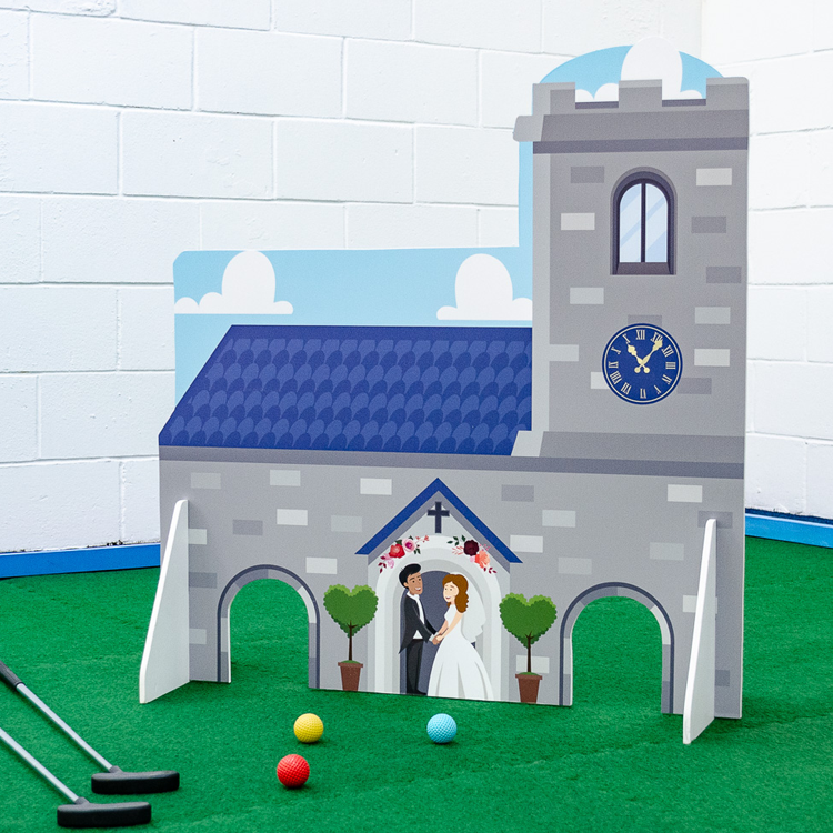 Church Wedding Obstacle - Putterfingers.com