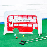 Minigolf obstacle red London Bus