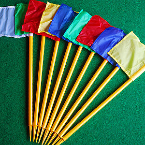 Mini golf crazy golf hole marker flag set