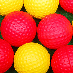 Oversized dimpled foam golf balls