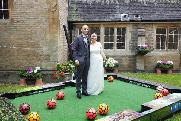 Football pool game hire for events, weddings
