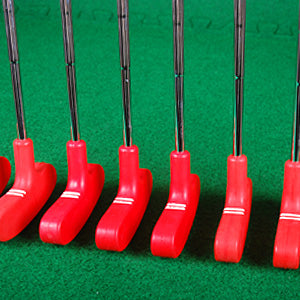 Junior mini golf putters 24 inch red bundle of 9