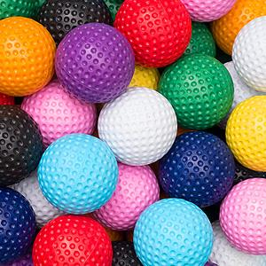 Set of 6 Low Bounce Balls - Event Stuff Ltd Owns Putterfingers.com!