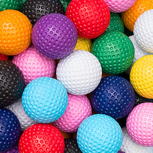 Low bounce mini golf balls