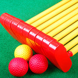 Children's plastic mini golf putters set of 9