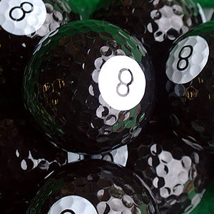 Novelty golf balls pool 8 ball design