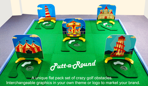 Putt-a-round 4 base units crazy golf obstacles