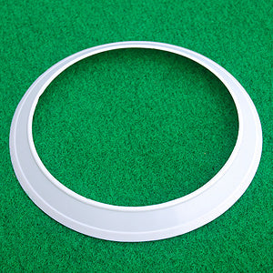 White putting cup set