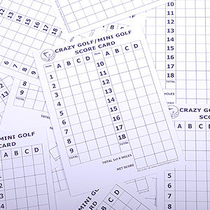 Minigolf scorecards