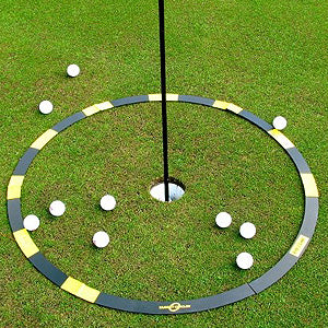 Eyeline target circle golf traininng aid