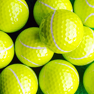 Novelty golf balls tennis