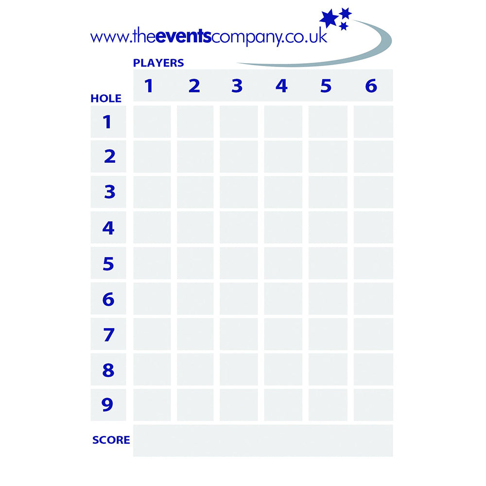 Branded Scorecards - Event Stuff Ltd Owns Putterfingers.com!