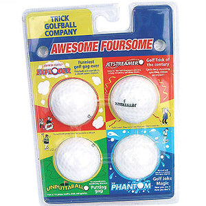 Joke / Trick Golf Balls (Pack of 4) - Event Stuff Ltd Owns Putterfingers.com!