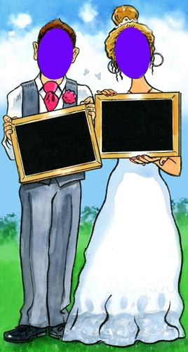 Wedding face-in-hole Boards - Putterfingers.com