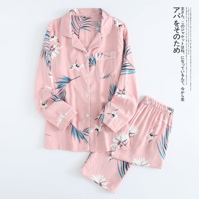 Maple Leaf Pajama Set