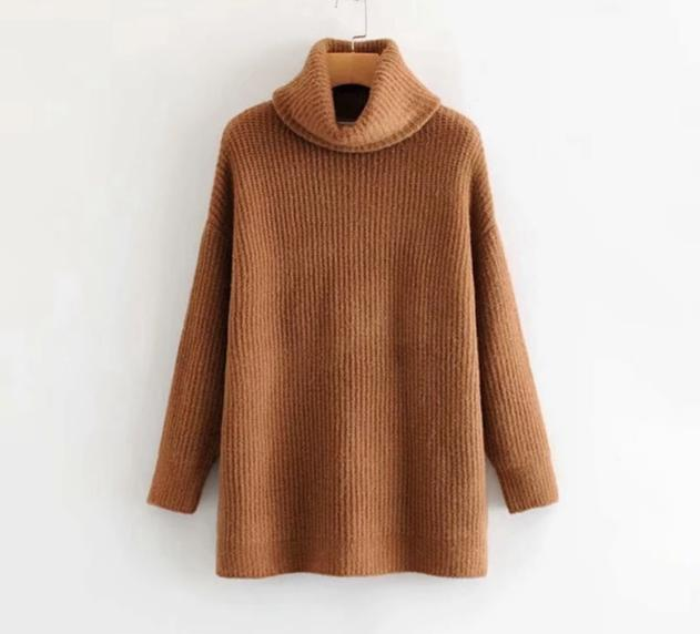 Casual Knitted Oversized Turtleneck Sweater