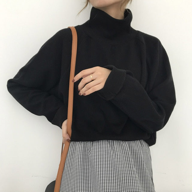 Sweater Turtleneck Knitted Jumper