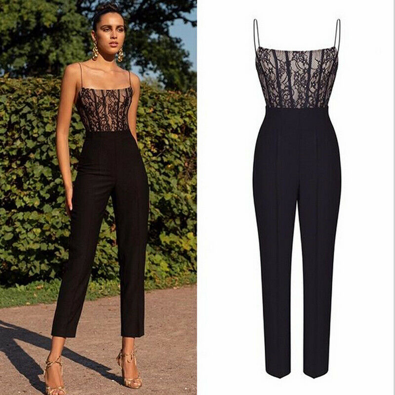 High Waist Lace Top Jumpsuit